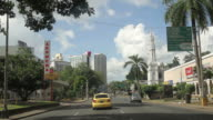View of Panama City from car