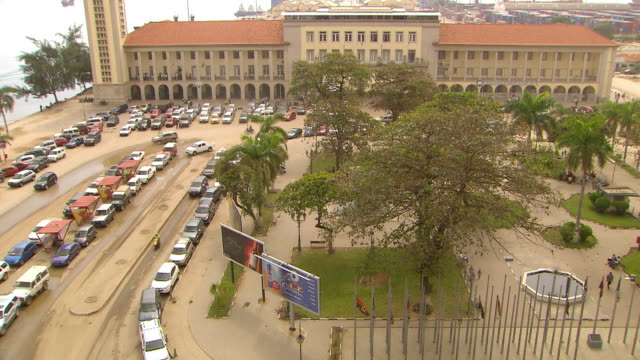 WS View of park and parking lot / Luanda, Angola