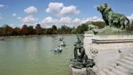 View of Parque del Buen Retiro in Madrid, Spain