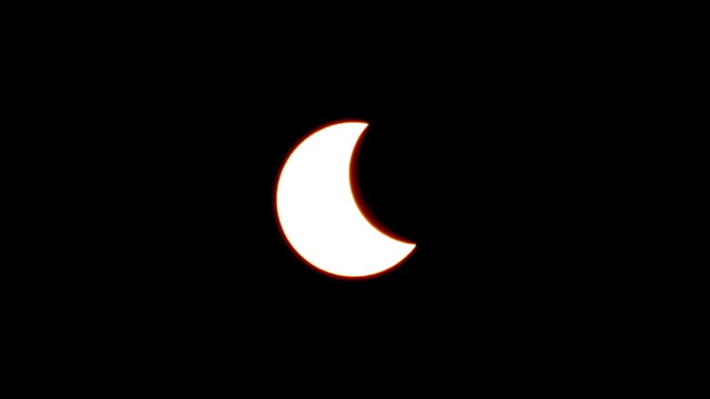 WS T/L View of Partial eclipse in Seoul / Seoul, South Korea