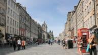 WS View of Pedestrians at Royal Mile / Edinburgh, Scotland, United States