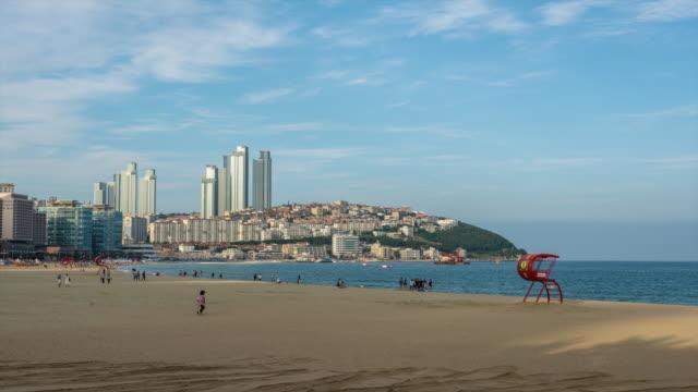 View of people at Haeundae Beach