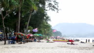 View of people at Patong Beach