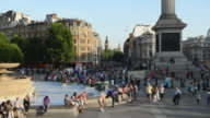 WS View of People at Trafalgar Square / London, United Kingdom