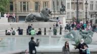 MS View of people at Trafalgar Square / London, United Kingdom