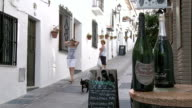 WS View of people at village Mijas / Costa del Sol, Andalusia, Spain