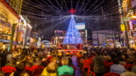 View of people enjoying together at the Nampodong christmas tree culture festival (popular travel destination)