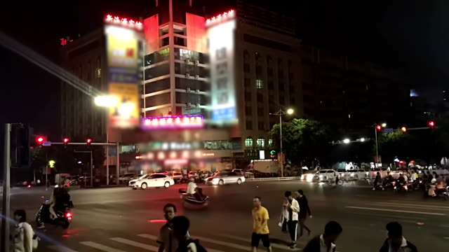 view of people on the streets China.