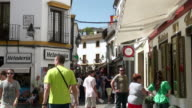 MS View of People walking at market of old town / Cordoba, Andalusia, Spain