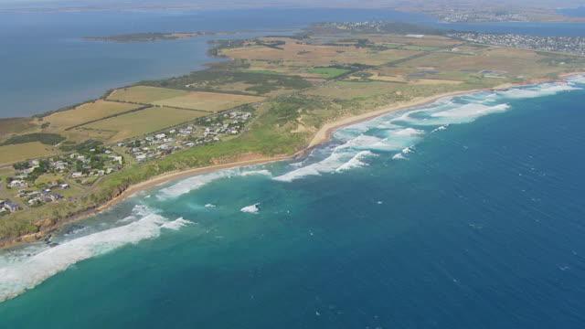 MS AERIAL TU View of Phillip Island / Phillip Island, Victoria, Australia