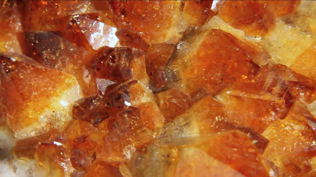 ECU SLO MO View of piece of amber crystal  / Miami, Florida, United States