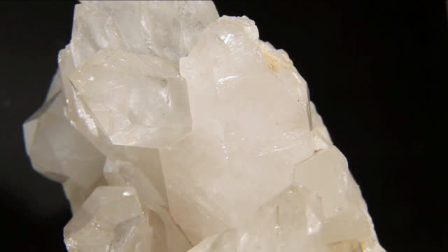 ECU SLO MO View of piece of quartz / Miami, Florida, United States