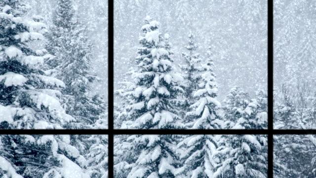 Znalezione obrazy dla zapytania window snow view