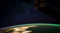 ISS View of Planet Earth: Spacecraft Passing Near the Aurora Borealis
