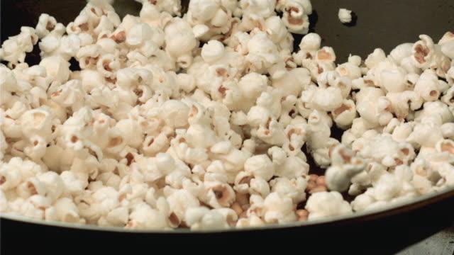 CU SLO MO View of popcorn popping / San Francisco, California, USA