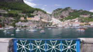 WS View of Port at town / Amalfi, Campania, Italy