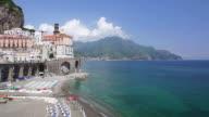 WS View of Port at town / Atrani, Campania, Italy