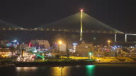 WS T/L View of Port Dock at night / Incheon, South Korea