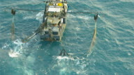 WS AERIAL ZI View of prawn fishing boat / Darwin, Northern Territory, Australia