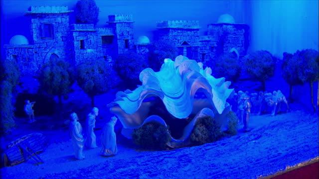 WS View of Presepi (Italian Nativity/manger scenes) / Italy