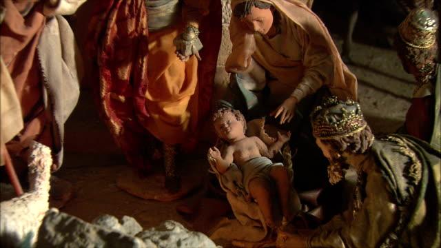 MS ZO View of Presepi (Italian Nativity/manger scenes) / Italy