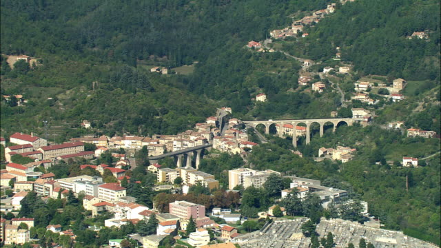 AERIAL, View of Privas, Rhone-Alpes, France