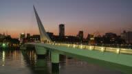 View of Puente de la mujer in Buenos Aires, Argentina