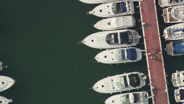 WS ZO AERIAL View of Puerto Banus marina / Medina Sidonia, Andalusia, Spain