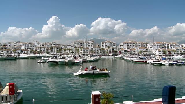 WS View of Puerto Banus near Marbella / Puerto Banus, Andalusia, Spain