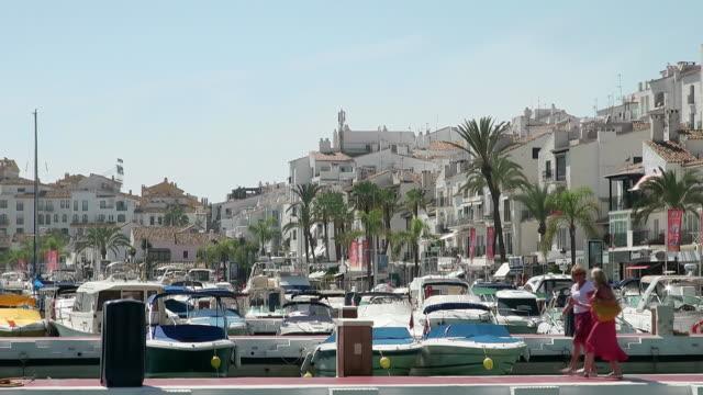 MS View of Puerto Banus near Marbella / Puerto Banus, Andalusia, Spain