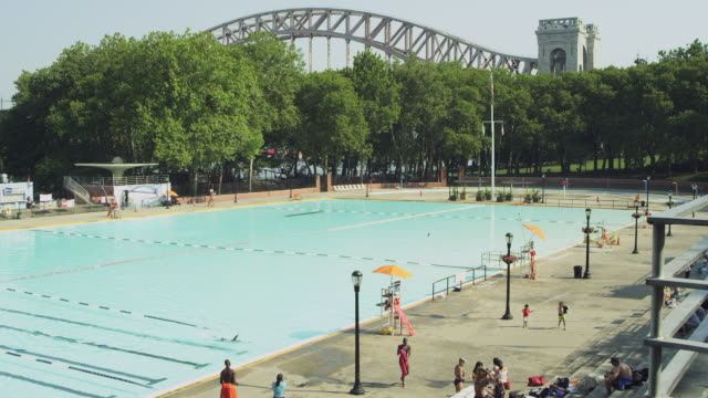 WS PAN View of Queens Pool / New York, United States