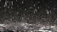 CU SLO MO View of rain in night / Vienna City, Vienna, Austria