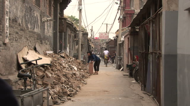 View of residential area in Old Beijing China