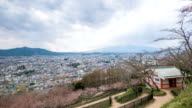 View of residential area near Mount Fuji, Yamanashi Prefecture, Japan