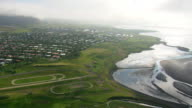 WS AERIAL View of Reykjavik / Iceland