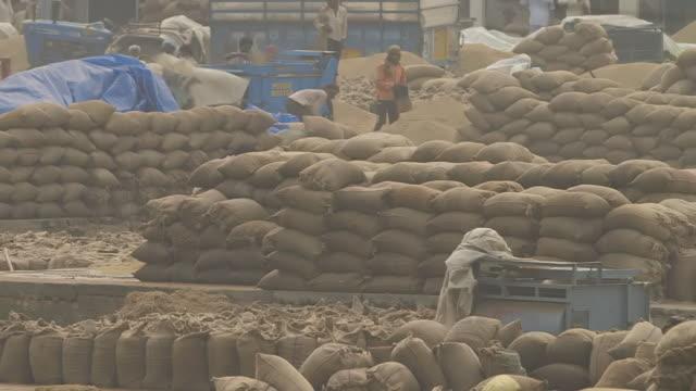 WS PAN View of Rice market / New Delhi, India