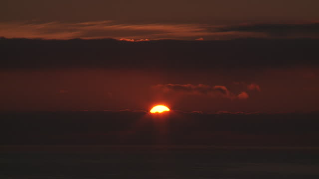 WS View of Rising sun / Marbella, Andalusia, Spain