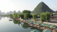 WS View of river surroundings / Close to Li River, Guangxi, China