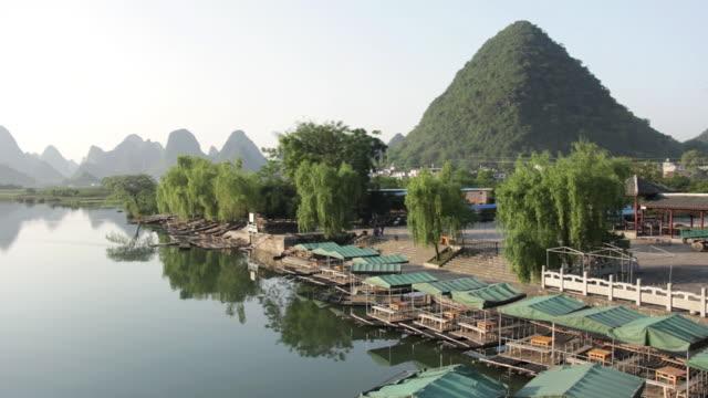 WS View of river surroundings / Close to Li River, Guangxi, China