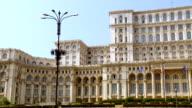 MS PAN View of romanian parliament building / Bucharest, Romania