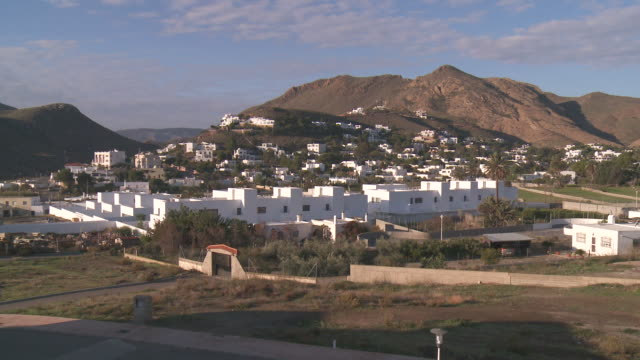 WS View of Row houses near Cabo de Gata Natural Park / Las Negras, Andalusia, Spain