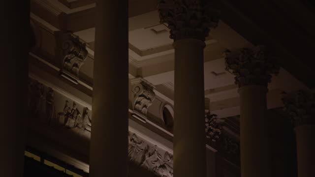 MS TU View of Royal Opera House at night / London, United Kingdom