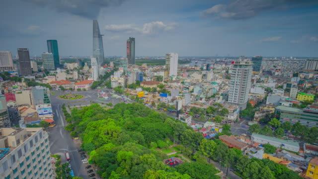 WS T/L View of Saigon district / Ho Chi Minh City - Saigon, Vietnam