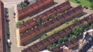 WS AERIAL ZI View of  sailor houses built in 18th century / Copenhagen, Denmark