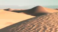 MS PAN View of sand dunes mountains / M'hamid, Zagora, Morocco
