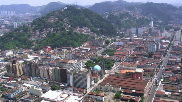 Ws Aerial Td Zi View Of Santos Cathedral Sao Paulo In City ...