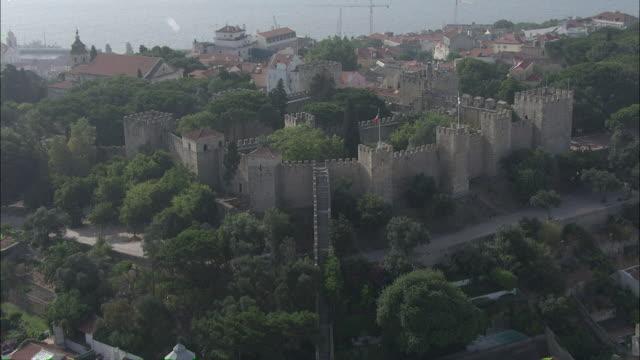 WS POV View of Sao Jorge castle / Lisbon, Portugal