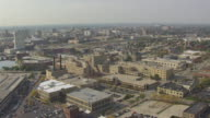WS AERIAL DS View of Schlitz Park and downtown / Milwaukee, Wisconsin, United States