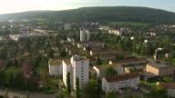 WS AERIAL View of Schwamendingen city / Oerlikon, Zurich, Switzerland