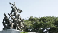 View of sculpture at Seoul National Cemetery